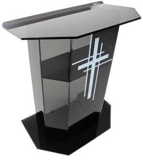 Acrylic Lectern Smoked Model ES-Acrylic Lecterns-Podiums Direct