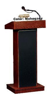 Sound Lectern Oklahoma Sound Orator with Wireless Handheld Mic-Mahogany-Sound Podiums and Lecterns-Podiums Direct