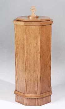 Baptismal Font NO 400-Tithe Boxes, Baptismal Font, Flower Stands, and Offering Tables-Podiums Direct