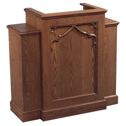 Church Wood Pulpit Wing NO 200W-Church Solid Wood Pulpits, Podiums and Lecterns-Podiums Direct