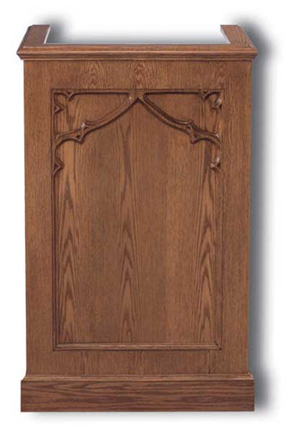 Church Wood Pulpit Single NO 201-Church Solid Wood Pulpits, Podiums and Lecterns-Podiums Direct