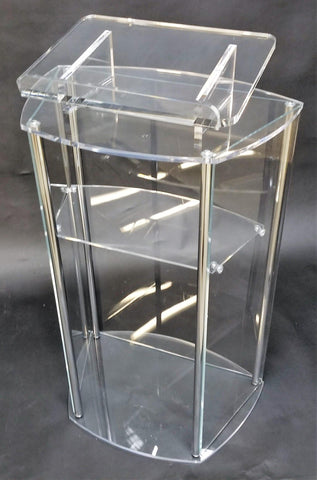 Acrylic Lectern with Post-Acrylic Lecterns-Podiums Direct
