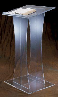 Acrylic Lectern 3304-Acrylic Pulpits, Podiums and Lecterns-Podiums Direct