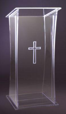 Acrylic Lectern 3305-Acrylic Pulpits, Podiums and Lecterns-Podiums Direct