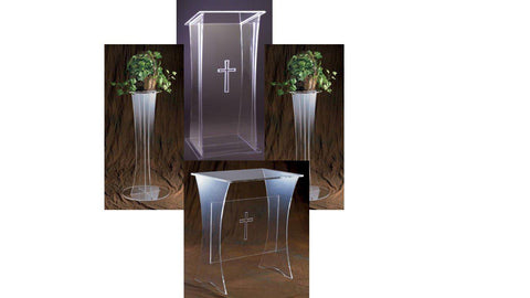Church Pulpit Set Acrylic 3305Set-Pulpit Sets-Podiums Direct