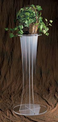 Flower Stand 3315 Clear Acrylic-Tithe Boxes, Baptismal Font, Flower Stands, and Offering Tables-Podiums Direct