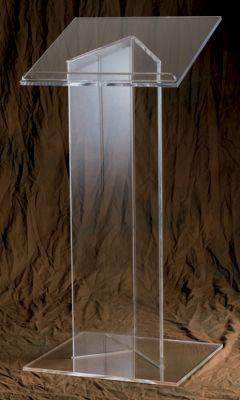 Acrylic Lectern 3319-Acrylic Pulpits, Podiums and Lecterns-Podiums Direct