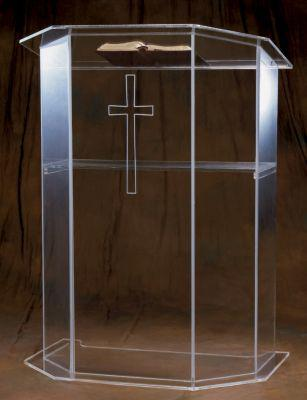Acrylic Lectern 3351S-Acrylic Pulpits, Podiums and Lecterns-Podiums Direct