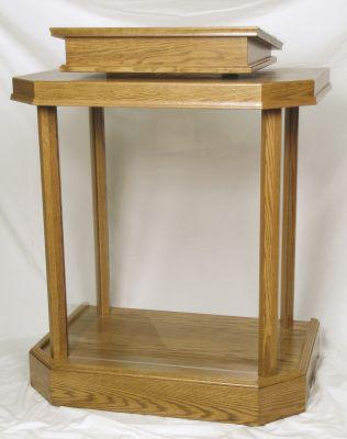 Wood with Acrylic Pulpit 3380-Wood With Acrylic Pulpits, Podiums and Lecterns-Podiums Direct