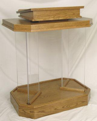 Wood with Acrylic Pulpit 3381 - FREE SHIPPING!
