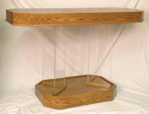 Communion Table 3385 Wood And Acrylic.  FREE SHIPPING!
