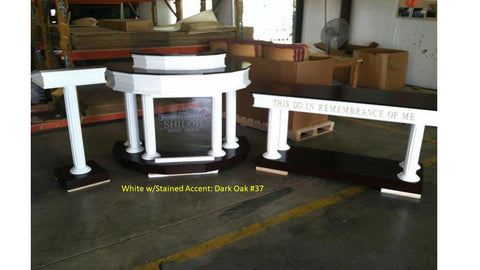 Church Pulpit Set Custom No. 5-Pulpit Sets-Podium Direct