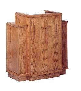 Church Wood Pulpit Wing NO 400W-Church Solid Wood Pulpits, Podiums and Lecterns-Podiums Direct