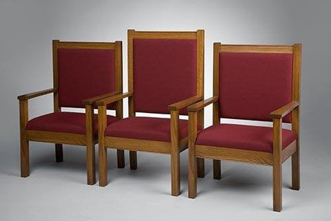 "Clergy Church Chair NO 400 Series 44"" Height Side Chair"