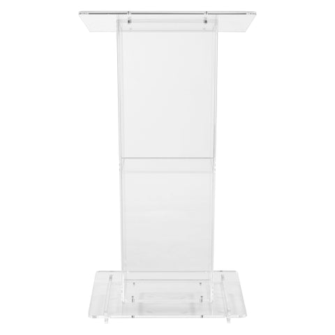 Acrylic Lectern Oklahoma Sound 401S-Acrylic Pulpits, Podiums and Lecterns-Podiums Direct
