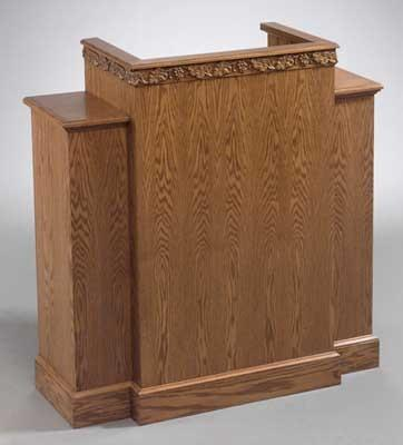 Church Wood Pulpit Wing NO 500W-Church Solid Wood Pulpits, Podiums and Lecterns-Podiums Direct