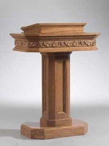Church Wood Pulpit Pedestal NO 5402-Church Solid Wood Pulpits, Podiums and Lecterns-Podiums Direct
