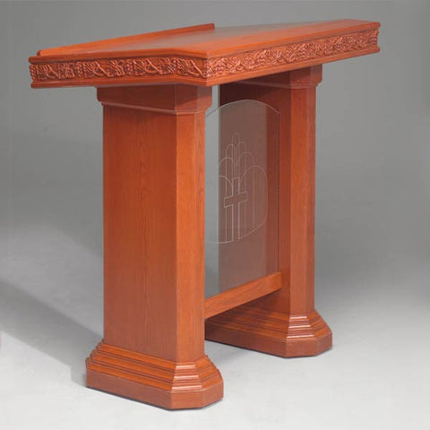 Wood with Acrylic Pulpit NO 5405-Wood With Acrylic Pulpits, Podiums and Lecterns-Podiums Direct