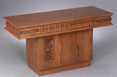 Communion Table NO 560 Pedestal-Communion Tables and Altars-Podiums Direct
