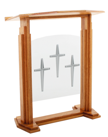 Wood with Acrylic Pulpit 701 Proclaimer-Wood With Acrylic Pulpits, Podiums and Lecterns-Podiums Direct