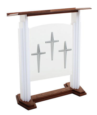 701W Proclaimer 1 Style Pulpit with Acrylic Center.  FREE SHIPPING