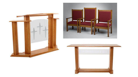 Church Pulpit Set 702.  FREE SHIPPING!