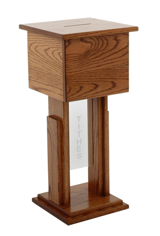 Tithe Box 719 Tithe/Prayer Box-Tithe Boxes, Baptismal Font, Flower Stands, and Offering Tables-Podiums Direct