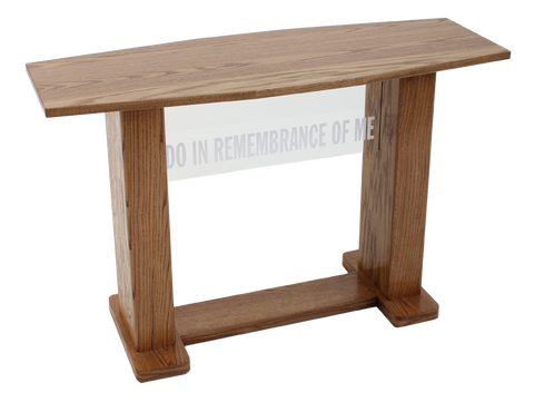 781 Acrylic and Wood Communion Table. FREE USA SHIPPING!