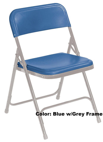 Model 800 Series Premium Lightweight Plastic Folding Chair