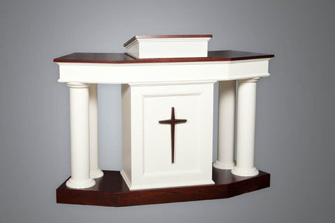 Church Wood Pulpit Custom No. 810-Church Solid Wood Pulpits, Podiums and Lecterns-Podiums Direct