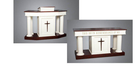 Church Pulpit Set NO 810-Pulpit Sets-Podiums Direct