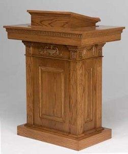 Church Wood Pulpit Pedestal NO 8201-Church Solid Wood Pulpits, Podiums and Lecterns-Podiums Direct