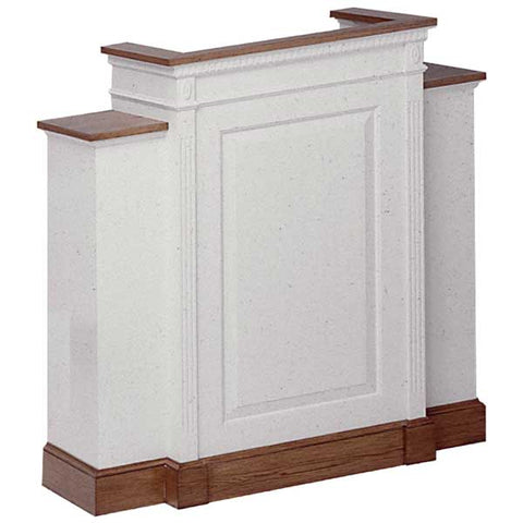 Church Wood Pulpit Wing NO 820W-Church Solid Wood Pulpits, Podiums and Lecterns-Podiums Direct