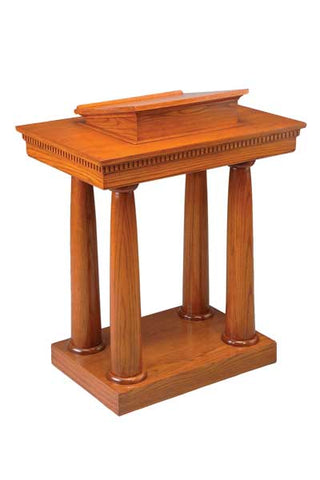 Church Wood Pulpit Pedestal NO 8301-Church Solid Wood Pulpits, Podiums and Lecterns-Podiums Direct