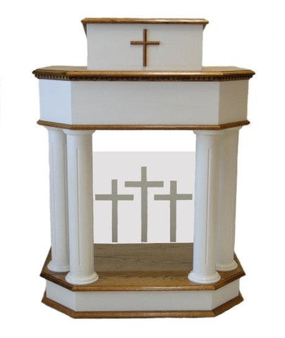 Wood with Acrylic Pulpit 830W-Wood With Acrylic Pulpits, Podiums and Lecterns-Podiums Direct