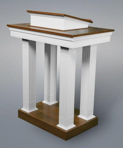 Church Wood Pulpit Pedestal NO 8401-Church Solid Wood Pulpits, Podiums and Lecterns-Podiums Direct