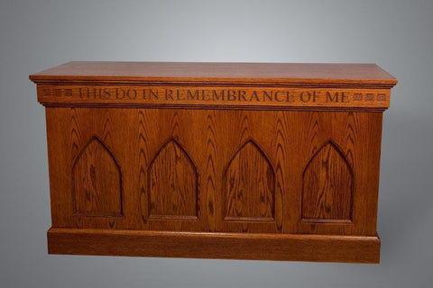 Communion Table NO 900 Closed Style-Communion Tables and Altars-Podiums Direct