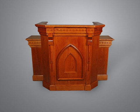 Church Wood Pulpit Wing NO 900W-Church Solid Wood Pulpits, Podiums and Lecterns-Podiums Direct