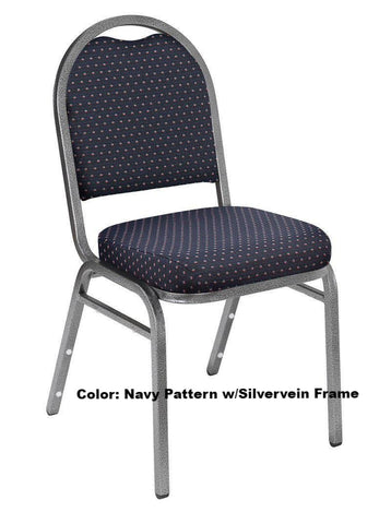 Banquet Chair Model 9260 Dome Fabric with Pattern Padded Stack