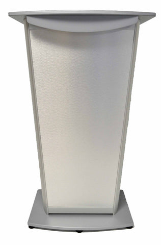 Contemporary Lecterns and Podium VH1 Standard Aluminum Lectern-Front-Contemporary Lecterns and Podiums-Podiums Direct
