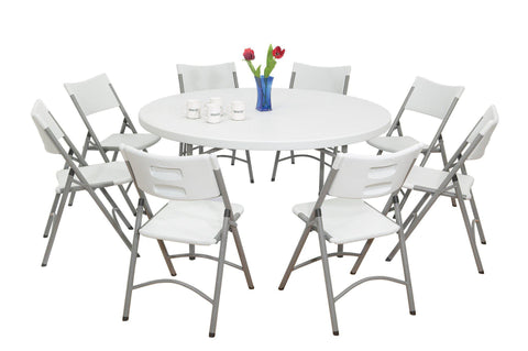 "Banquet Table BT-48R National Public Seating Folding Table 48"" Round"