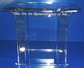 Communion Table NO 2 Acrylic-Communion Tables and Altars-Podiums Direct