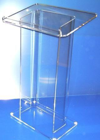 Acrylic Lectern Model H-Acrylic Lecterns-Podiums Direct