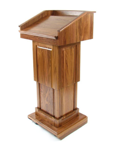 Handcrafted Solid Hardwood Lectern CLR235-LIFT Counselor Lift-Handcrafted Solid Hardwood Pulpits, Podiums and Lecterns-Podiums Direct