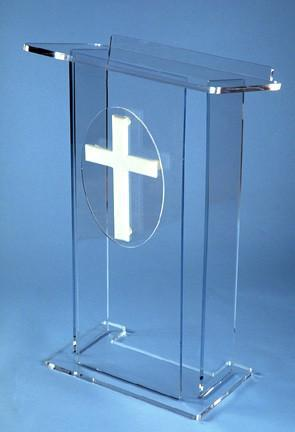 Acrylic Lectern Model J-Acrylic Lecterns-Podiums Direct