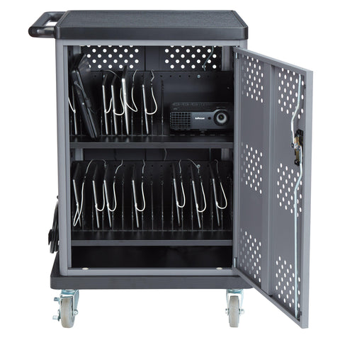 Duet Charging Cart DCC Oklahoma Sound-Presentation AV Tablet Laptop Carts and Plasma LCD Stands-Podiums Direct