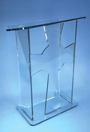 Acrylic Lectern with Cross-Acrylic Lecterns-Podiums Direct