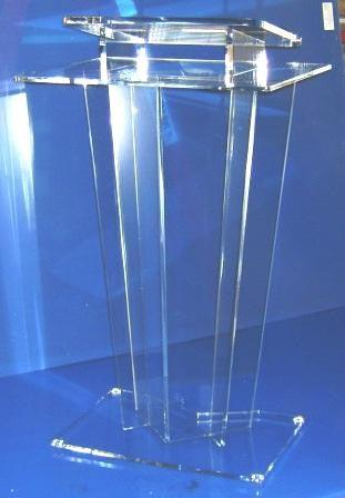 Acrylic Lectern Model C-Clear-Acrylic Lecterns-Podiums Direct