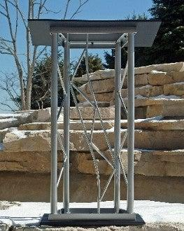 Metal Truss Lectern JP2 Velocity-Metal Truss Podiums and Lecterns-Podiums Direct