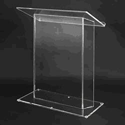 Acrylic Lectern Jumbo-Acrylic Lecterns-Podiums Direct